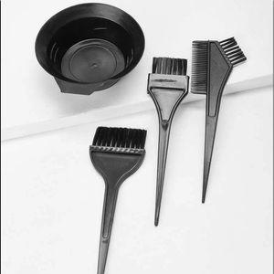 Hair Dye Bowl & Brush 4pcs